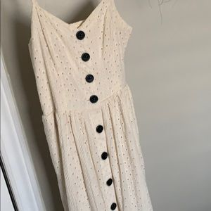 Urban outfitters cream midi/maxi dress.